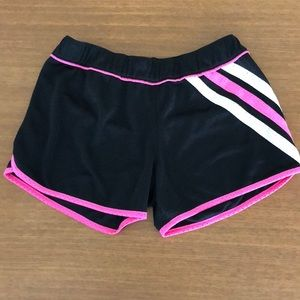 Adidas pink and black athletic shorts small c24